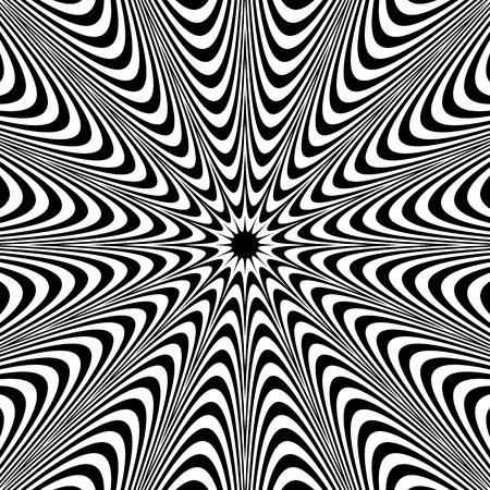 radiating: Monochrome background: Abstract bursting, radial, radiating pattern. Illustration