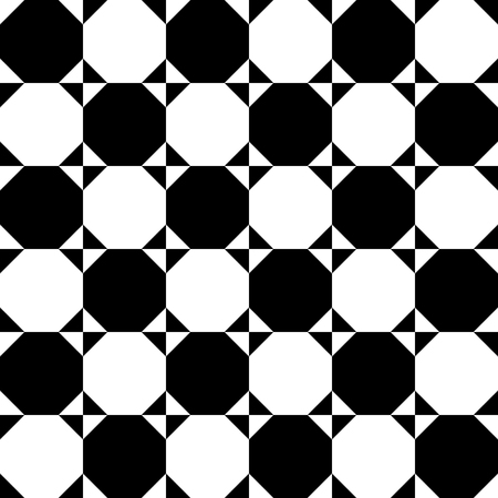 contrasty: Checkered pattern with circles and squares. Contrasty background for your design Illustration