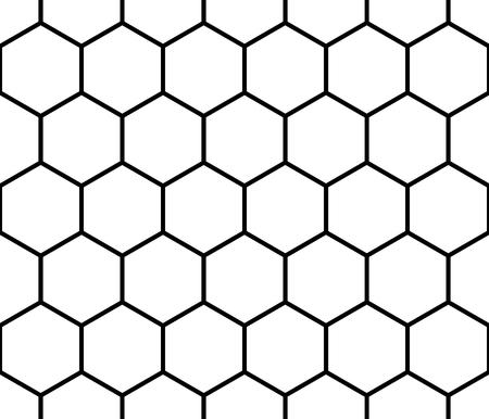 八角形の図形と背景のシームレスな白黒パターン
