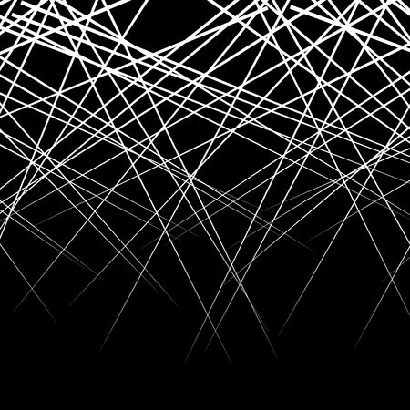 intersecting: Random, intersecting lines. Abstract monochrome vector texture  pattern.