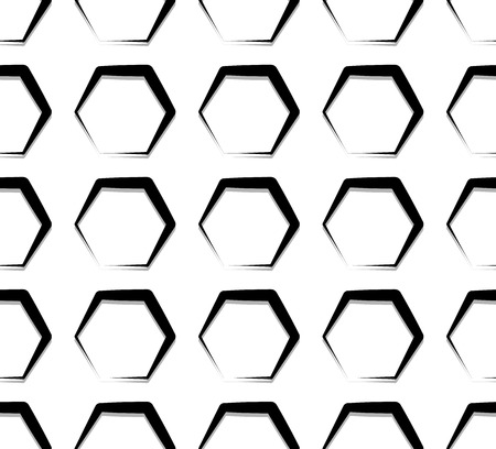 grillage: Seamless monochrome pattern, background. Editable vector art.