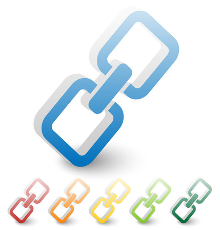 Chain, chain link icon in several colors. Illusztráció