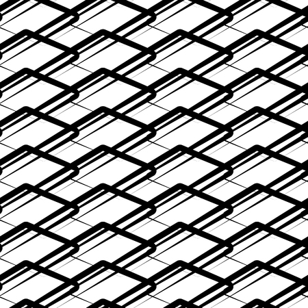 repeatable: Geometric repeatable pattern. Abstract monochrome background. Vector