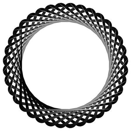 rotating: Abstract circular, rotating element. Monochrome vector shape.