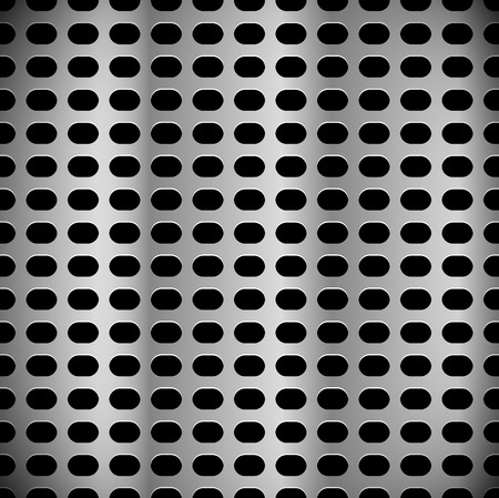 Metal sheet, surface pattern. Perforated, punched metal.