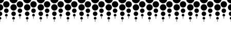 prepress: Halftone, dotted vector pattern, background. (Horizontally seamless.) - Vector art, illustartion.