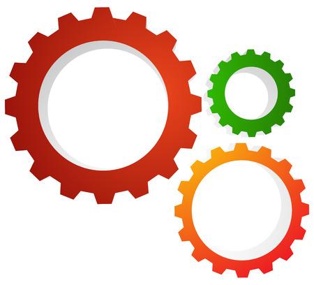 rackwheel: Gear wheel, gear, cogwheel graphic. Vector illustration for development, industrial subjects