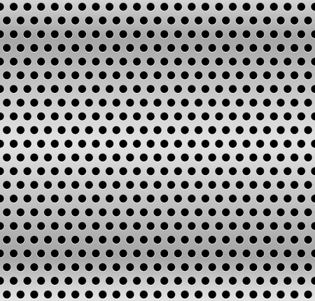 perforated: Perforated metal background. Industrial backdrop, metallic sheet with dimples. Repeatable pattern.