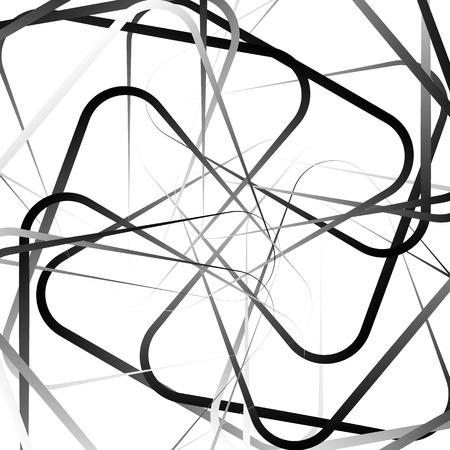 random: Random, scattered shapes. Irregular pattern. Monochrome vector.