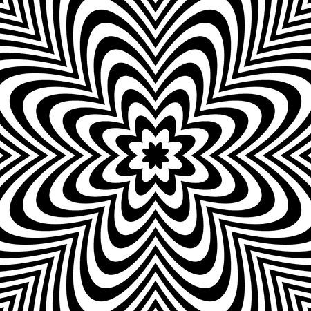 anomalous: Monochrome background: Abstract bursting, radial, radiating pattern. Illustration