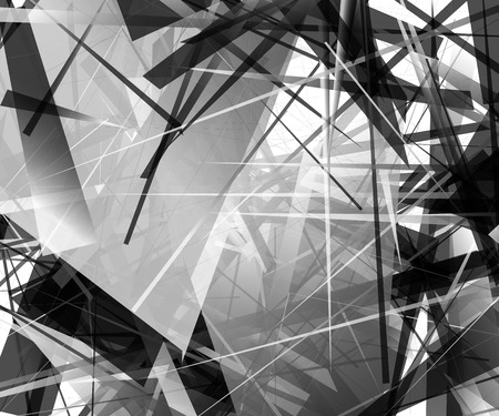 edgy: Abstract monochrome pattern  texture with edgy, overlapping rectangular shapes.