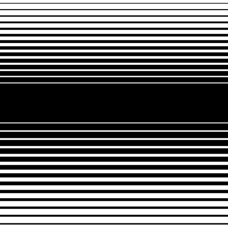 thickness: Straight, horizontal lines pattern. Vector art.