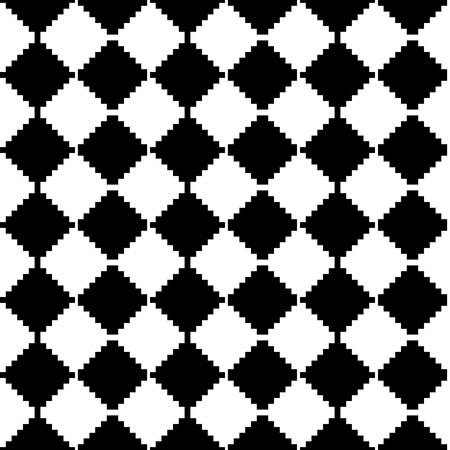 revetment: Abstract minimal checkered pattern with mosaic of squares. Monochrome repeatable  background. Illustration
