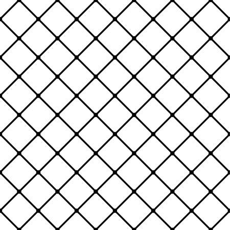 blocky: Monochrome grid, mesh background, seamless pattern. Vector.