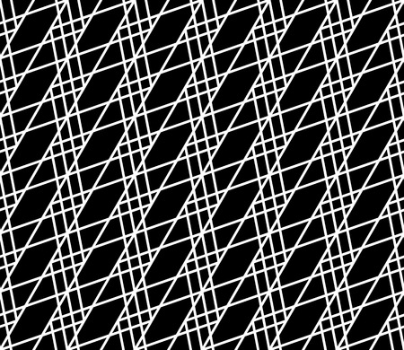 grillage: Seamlessly repeatable abstract, monochrome grid, mesh pattern. Editable vector