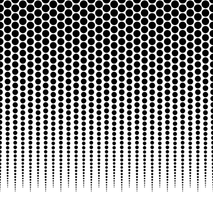 Halftone, dotted vector pattern, background. (Horizontally seamless.) - Vector art, illustartion.