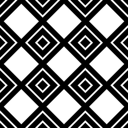 blocky: Monochrome pattern with square shapes. Seamlessly repeatable. Illustration