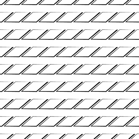 edgy: Abstract grid, mesh background with rectangular edgy shapes. Minimal monochrome pattern. (Repeatable) Illustration