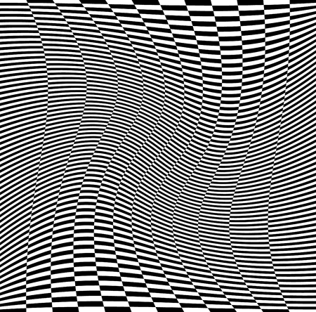 distortion: Abstract checkered background with wavy distortion effect.