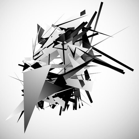 fragmentation: Abstract monochrome pattern  texture with edgy, overlapping rectangular shapes.