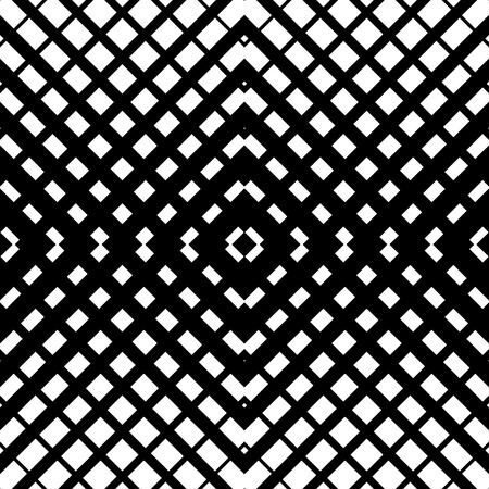 grating: Abstract grid mesh pattern with intersecting lines. Symmetric cellular repeatable, seamless pattern. Monochrome vector art. Grille, Lattice background. Illustration