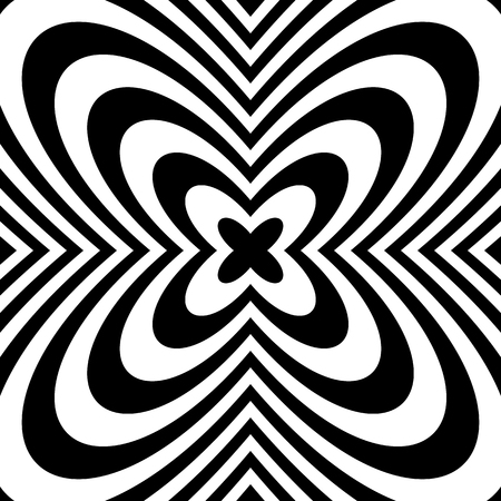 petal: Alternating flower, petal like shapes,  black and white abstract image. Illustration