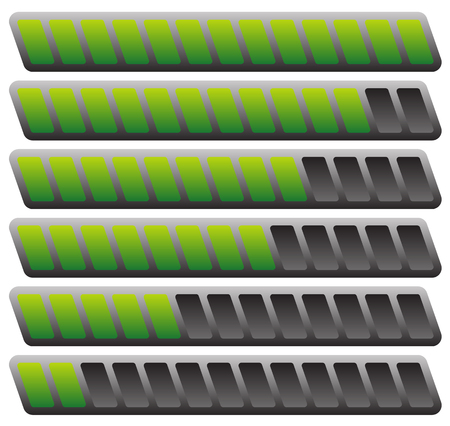 sequence: Progress or loading bars in sequence. vector. Illustration