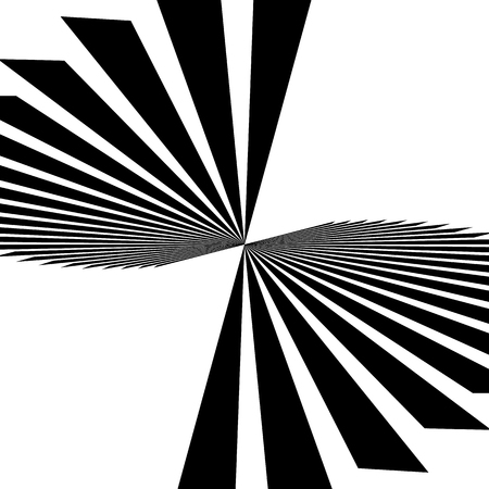 radiating: Radiating, converging lines. Abstract monochrome vector element. Irregular radial lines.