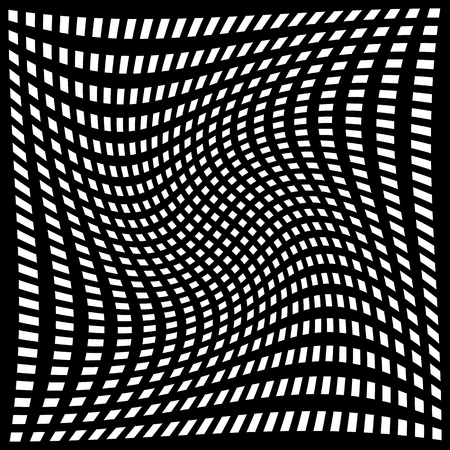 anomalous: Abstract grid, mesh with distortion, warp. Editable vector texture.