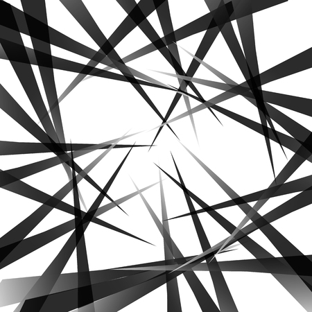 grayscale background: Random pointed lines. Edgy, grayscale background, pattern. Vector art. Illustration