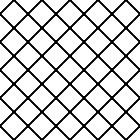 mesh: Interconnected squares seamless monochrome pattern. Vector illustration.