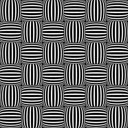 entwine: Abstract monochrome background with lined squares. Repeatable pattern