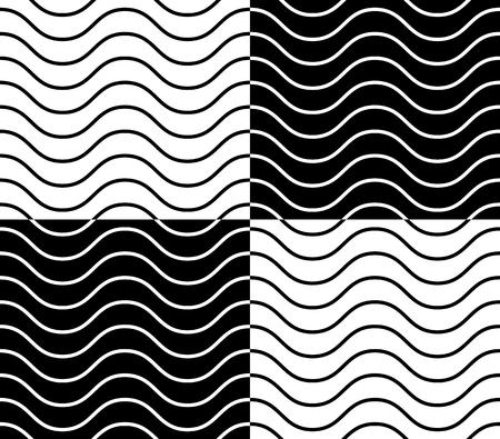 criss cross: Zig zag, wavy lines seamless monochrome pattern.