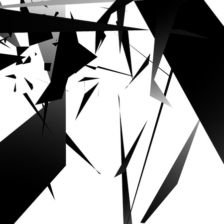 angled: Abstract edgy, angled shapes texture. Monochrome futuristic background.