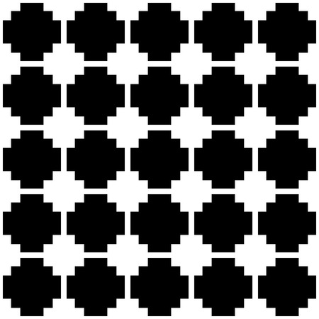 blocky: Blocky, monochrome pattern with squares. Seamlessly repeatable.