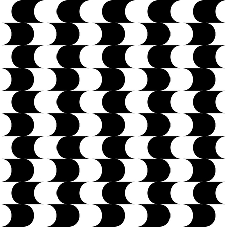 repeatable: Abstract monochrome pattern with arced shapes. Seamlessly repeatable.