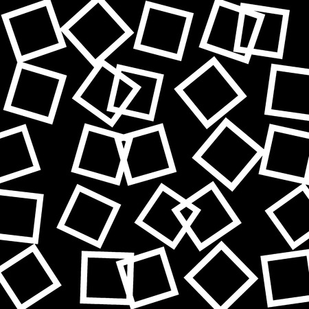 blocky: Abstract pattern, texture with scattered, random squares. Vector.
