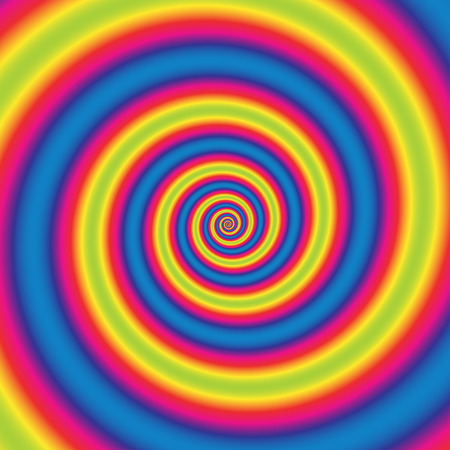 gyration: Background with abstract spiral, vortex effect. Editable vector. Illustration
