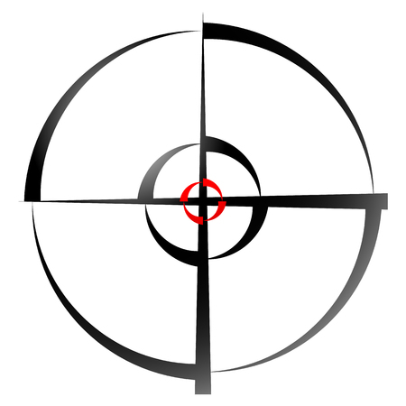cross hair: Cross hair, target mark, Circular reticle vector illustration.
