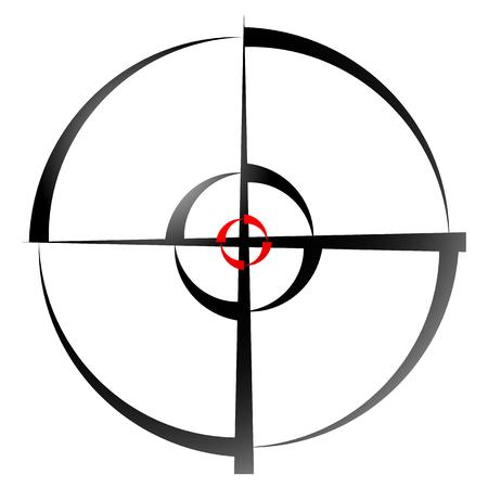 Kreuz Haar, Zielmarke, Kreis Absehen Vektor-Illustration. Standard-Bild - 51199058