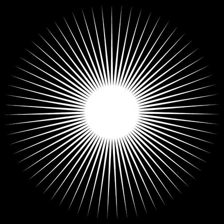 spiky: Spiky shape, element. Monochrome abstract vector illustration. Illustration
