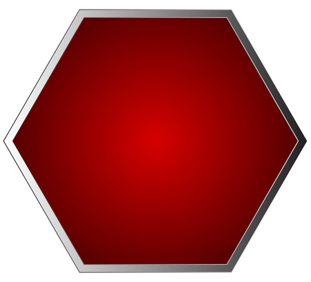 Empty, blank stop sign isolated on white. Vector illustration.