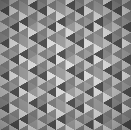 tessellation: Grayscale mosaic, tessellation background with triangles. seamlessly repeatable Illustration