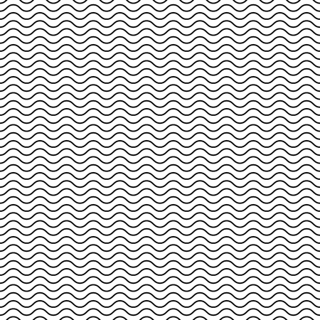 oscillate: Wavy, billowy lines seamless pattern. Vector illustration.