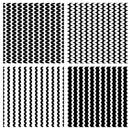 zag: Zig zag, wavy lines seamless monochrome pattern.