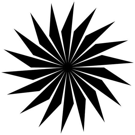 abstraite circulaire, forme tournante, motif. élément Monochrome.