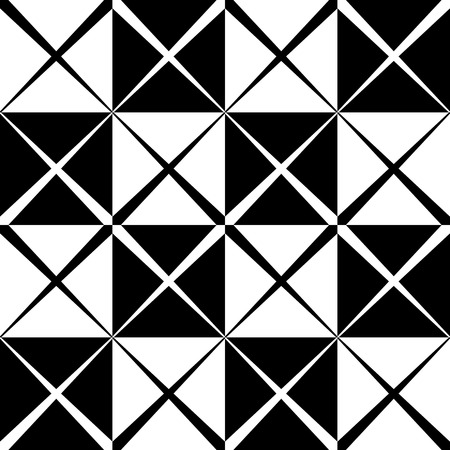 grating: Seamless monochrome pattern with X shape, intersecting, crossing lines. Repeatable abstract background Illustration
