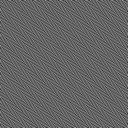slanting: Slanting wavy (zigzag) lines. Abstract monochrome pattern, background. Seamlessly repeatable at edges.