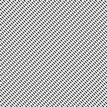 破線の繰り返しパターン。モノクロの抽象的な背景。ベクトル。