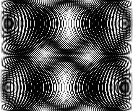 protuberant: Abstract grid, mesh, lattice pattern. Intersecting lines monochrome pattern.